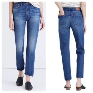 Madewell Distressed High Rise Perfect Vintage Jean